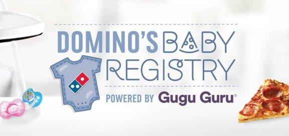 dominos baby registry marketing dive