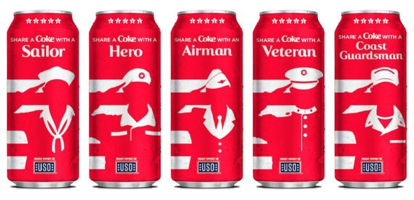 coca cola military cans