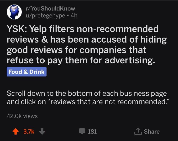 Reddit-YouShouldKnow
